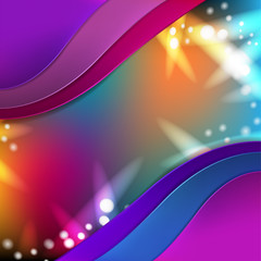 Abstract background with disco lights