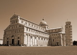 Cathedral and the leaning tower of Pisa in Piazza dei Miracoli s