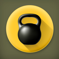 Weight, long shadow vector icon