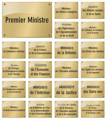 PLAQUES-MINISTERES