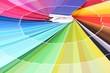 Paper palette close up