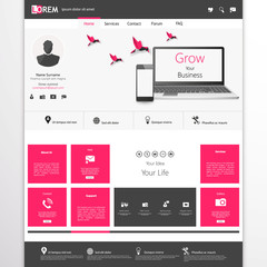 business website template - home page design - clean and simple