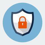 Security shield symbol icon vector illustration
