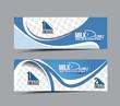 Milk Dairy Header & Banner Design