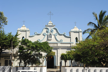 The church of Conception de Ataco on El Salvador