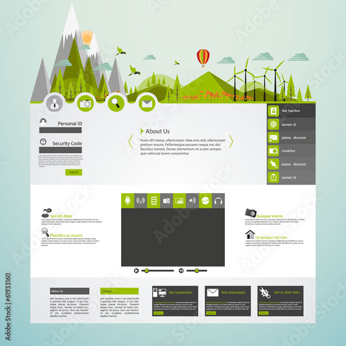 Flat Eco website Template