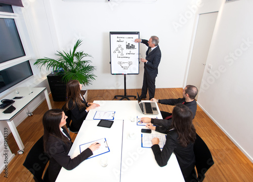 Man explaining business concepts during a meeting