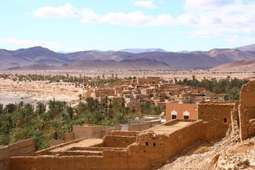 village dans l'anti-atlas dans la région de Tata au Maroc