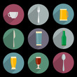 Flat Icons of kitchen objects