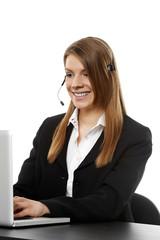 Frau mit Headset 2