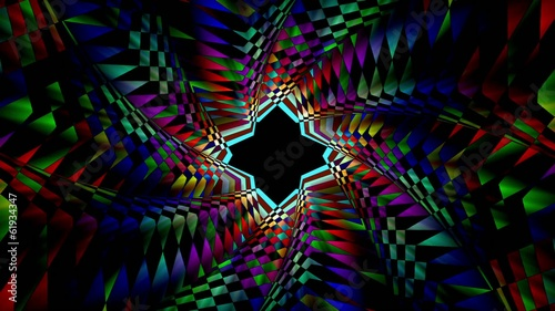 Psychedelic animated background.