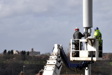 Telecommunication Mast Being Repaired