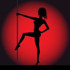 Striptease girl silhouette