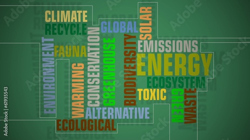 Environmental text animation.
