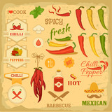 chilli spice, chili, isolated pepper vegetables, mexican food
