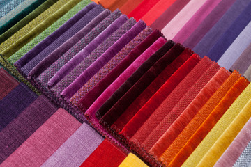 colorful fabric samples