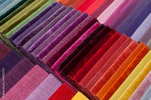 colorful fabric samples - 61935727