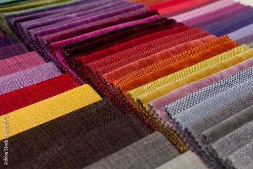 Leinwanddruck Bild colorful fabric samples