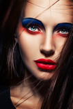 closeup beauty creative makeup woman face