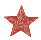 Red star christmas decoration.