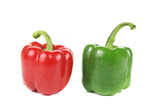 Sweet red and green pepper.