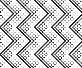 Seamless repeating geometric stylish texture vector