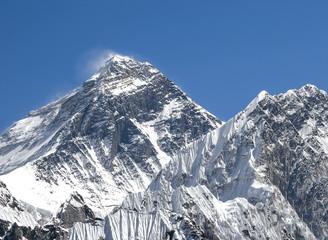 Everest Mountain Peak (Sagarmatha), highest mountain in the worl