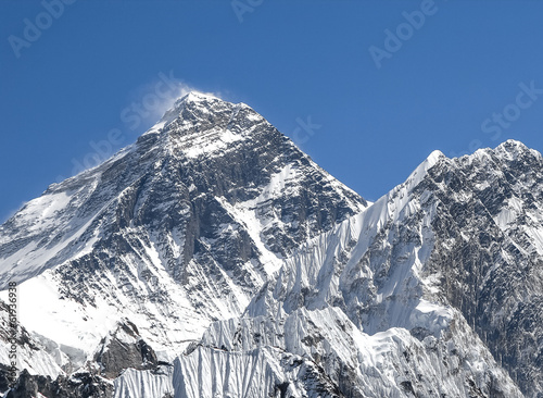Everest Mountain Peak (Sagarmatha), highest mountain in the worl