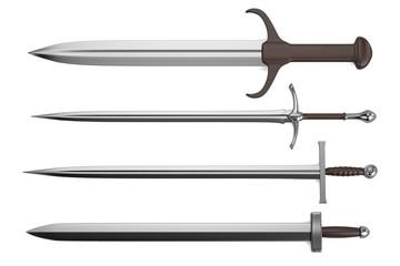 realistic 3d render of sword