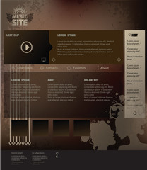 Web template foe rock music site