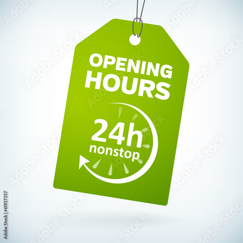 Green paper 24h nonstop opening hours tag