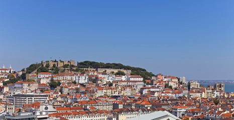 View of the Sao Jorge Castle