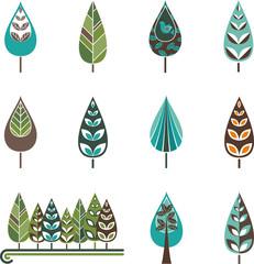ornamental trees set