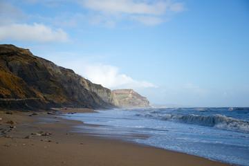 Golden Cap from Charmouth Beach Dorset England