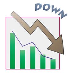 下降グラフ