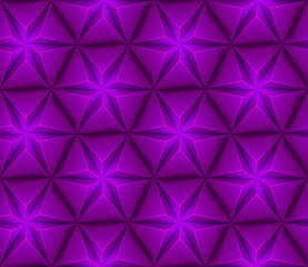 3d Abstract seamless background with purple triangles star