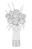 cartoon image of wedding flower