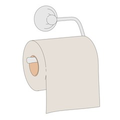 cartoon image of toilet paper