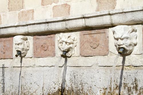 Fontana delle 99 cannelle - L'Aquila Poster