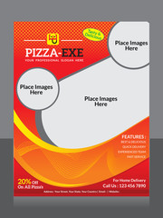 abstract pizza flyer