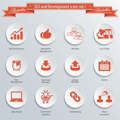 SEO and Development icons vol 1.