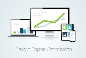 Search engine optimization marketing analysis vector