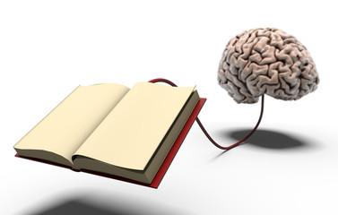 Libro collegato al cervello