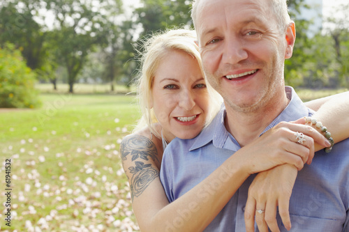 Aged couple in the park b