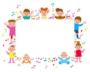 子供 音符 フレーム