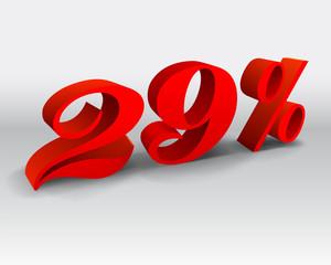 29 percent discount vector illustration