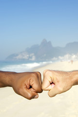Brazilian Diversity Interracial Hands Together Rio Brazil