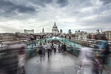 St. Paul's Cathedral & Millennium Bridge, London