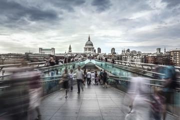 St. Paul's Cathedral & Millennium Bridge, London