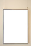 empty White board on concrete wall background